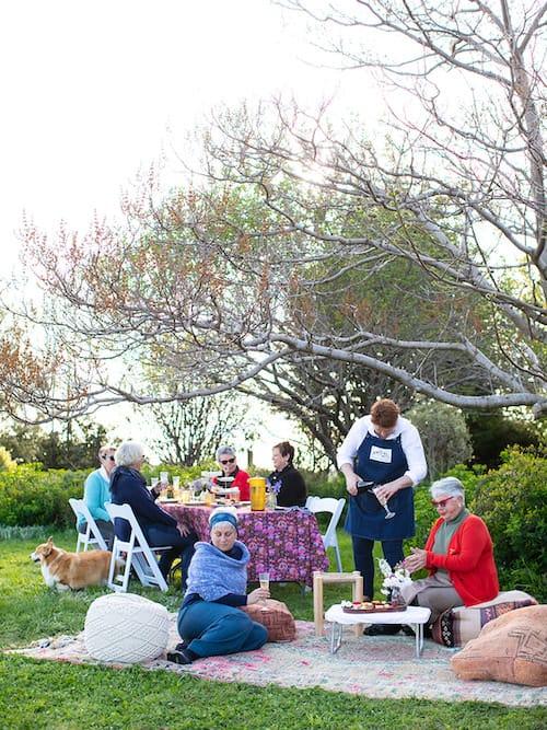 Luxury garden picnic