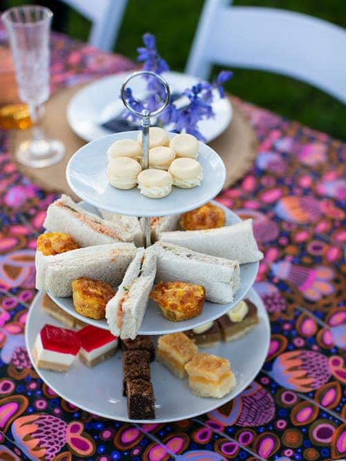 Luxury picnic high tea setting